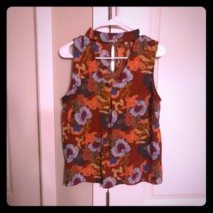 Boutique Floral sleeveless blouse